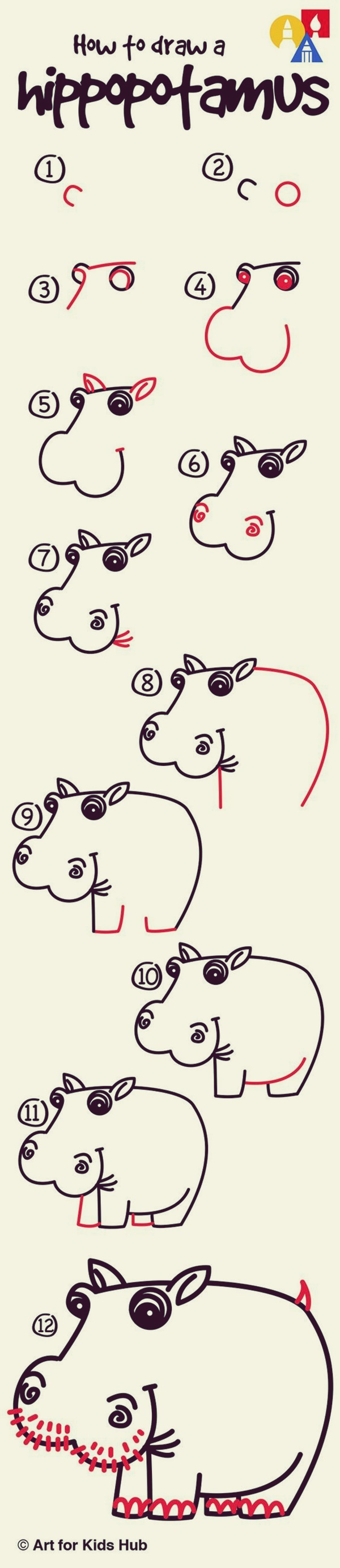 How to draw Cute Animals (12)