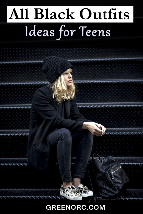 All Black Outfits Ideas for Teens (1)