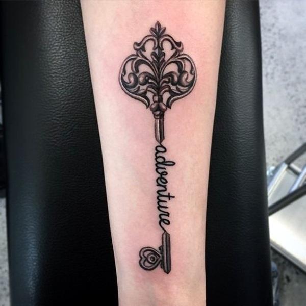 Lovely Key Tattoos for Girls (2)