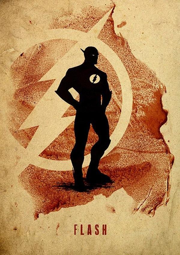 Examples of Superhero Minimalist Posters (12)