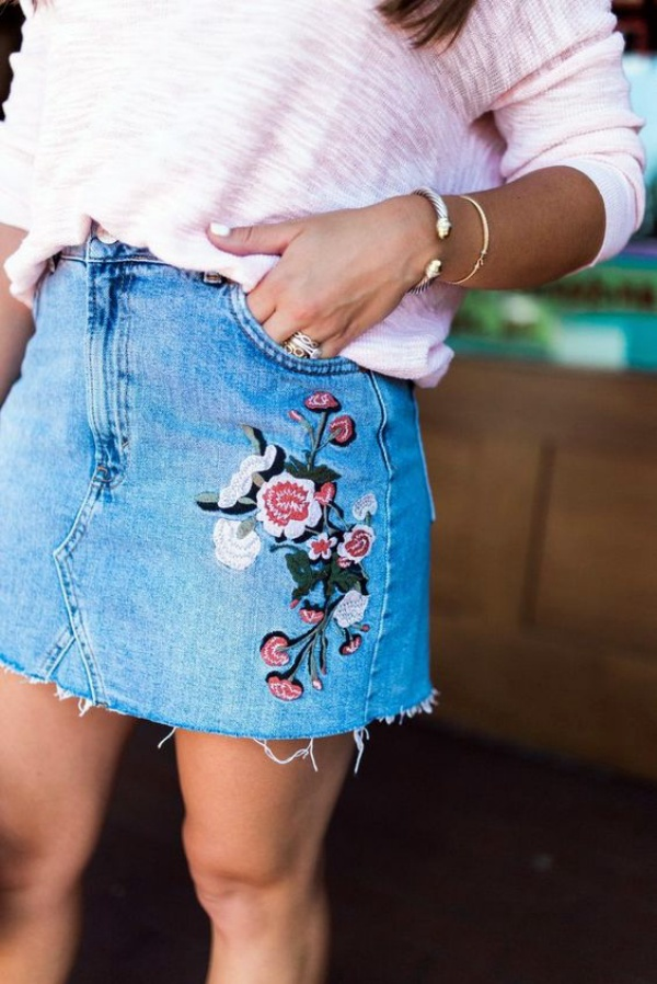 DIY EmbroideryJeans Examples