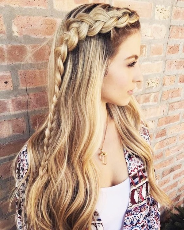 Cozy Braid Hairstyle For Party And Holidays