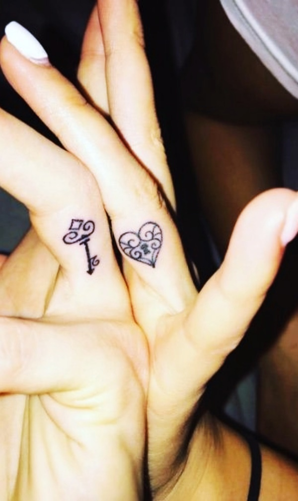 Expressive Mother and Daughter Tattoos