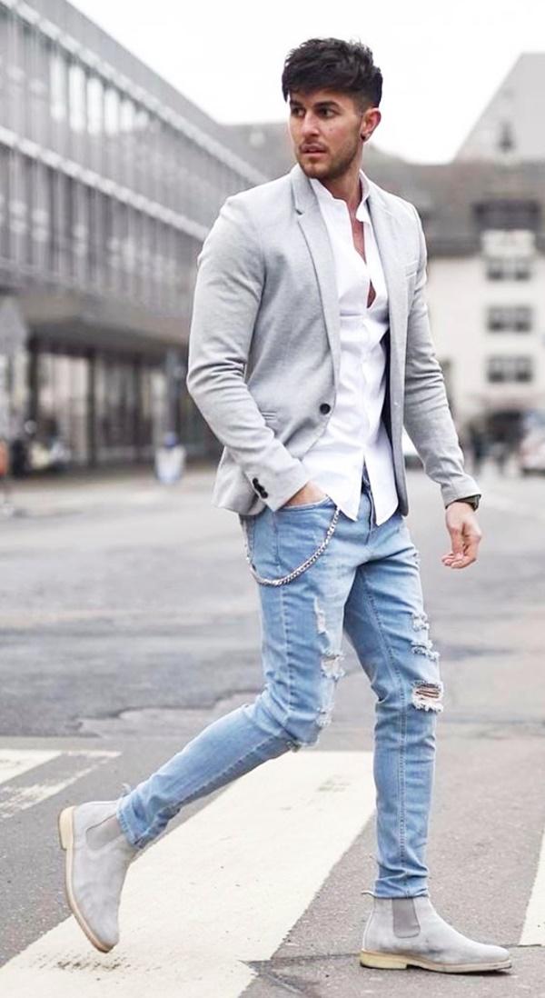 Classy Men Street Style Fashion Ideas