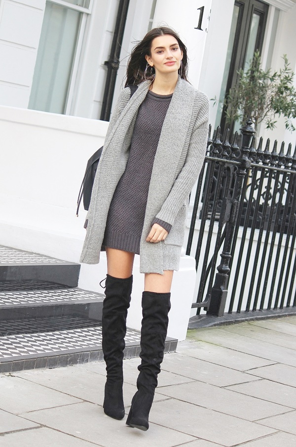 Cozy Knee High Boots Outfits to Copy ASAP
