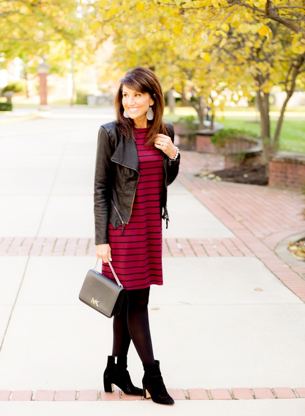 Casual Leather Jacket Outfit Ideas for Winter