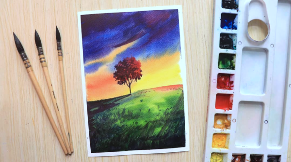 Watercolor Painting Tips for Absolute Beginners with Example