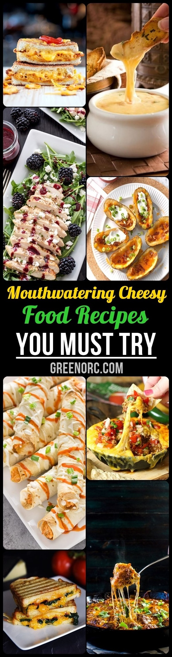 Mouthwatering Cheesy Food Recipes You Must Try
