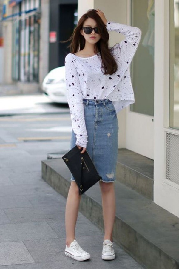 Informal Work Outfits With Sneakers