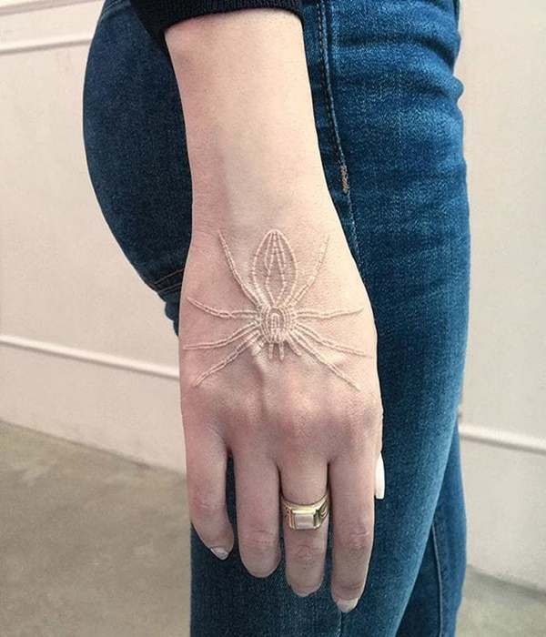 Subtle White Ink Tattoo Designs And Ideas