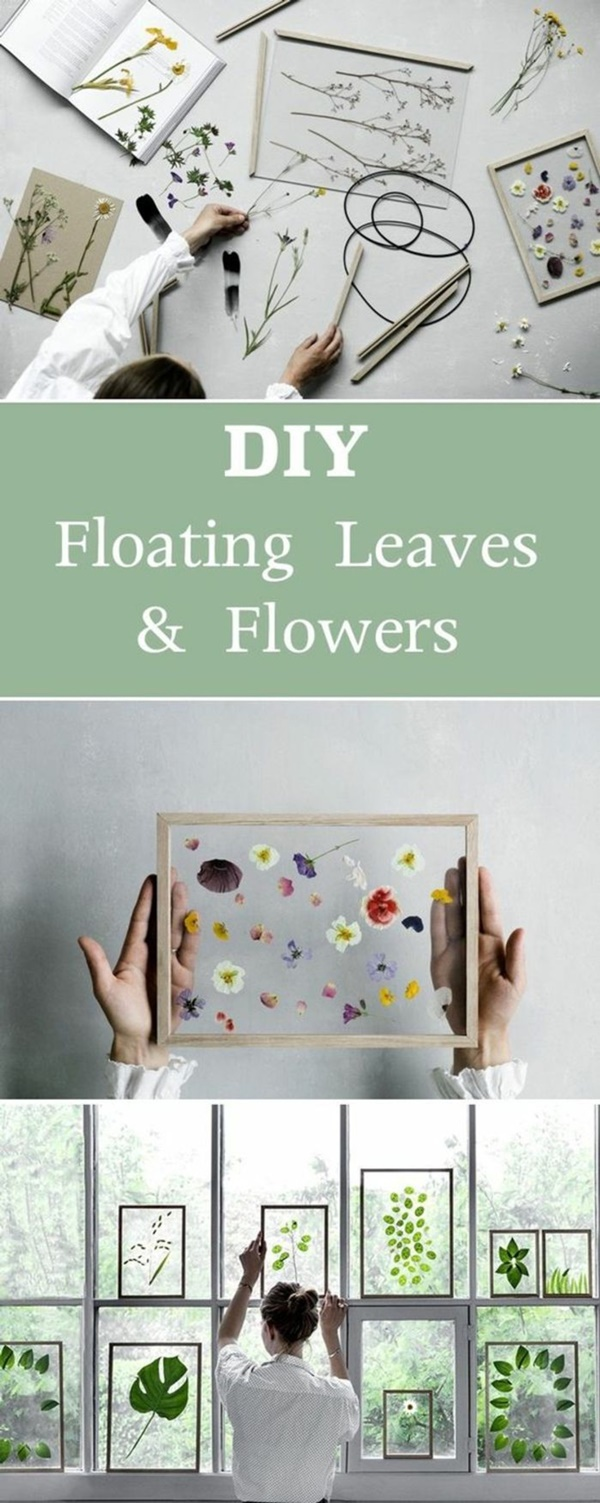 DIY Dried And Pressed Flower Home Decorations