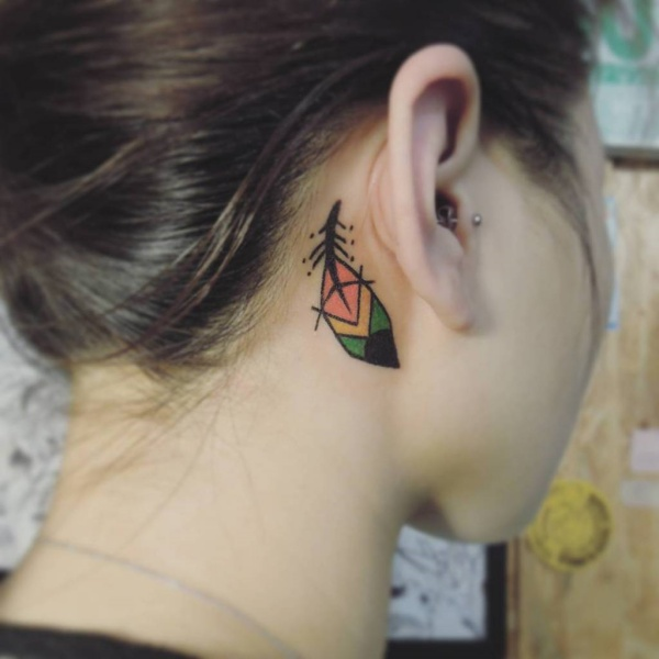 Meaningful But Cute Behind The Ear Tattoo Designs