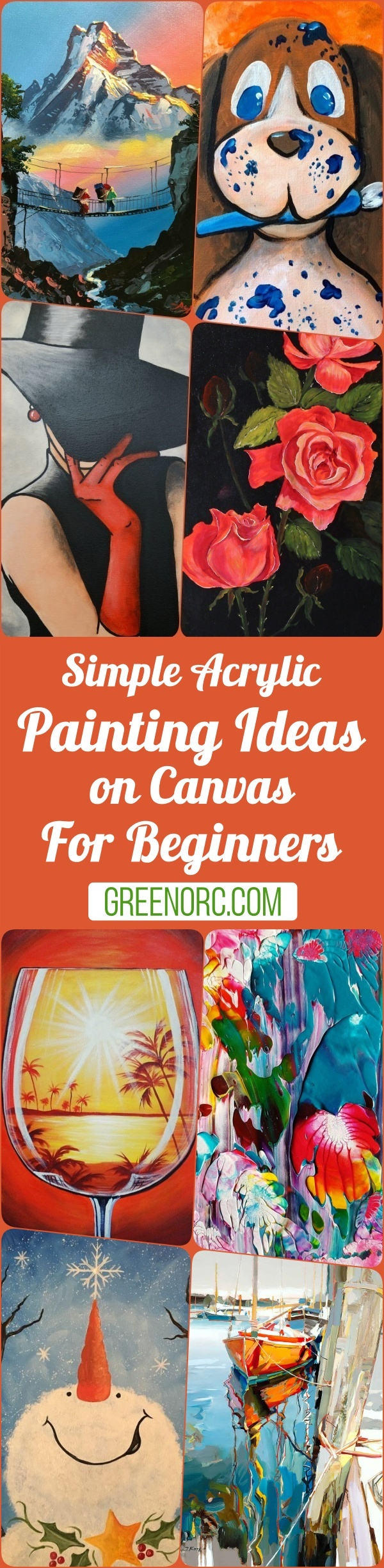 Simple Acrylic Painting Ideas on Canvas For Beginners