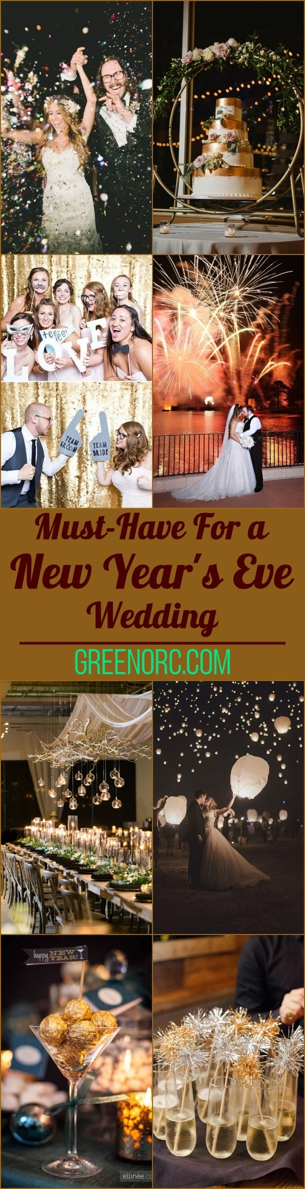 Must-Have For a New Year's Eve Wedding