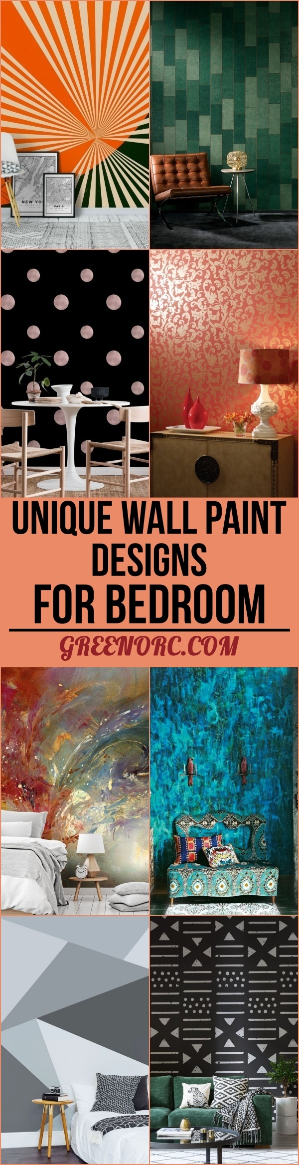 Unique Wall Paint Designs For Bedroom