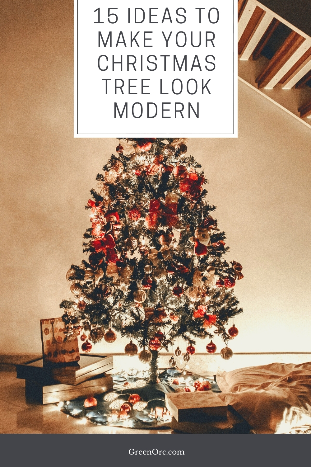 A Christmas tree featuring a wide variety of decorative elements.
