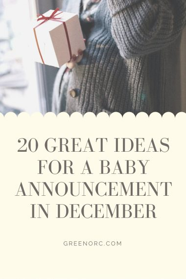 20 great ideas for a baby announcement in December
