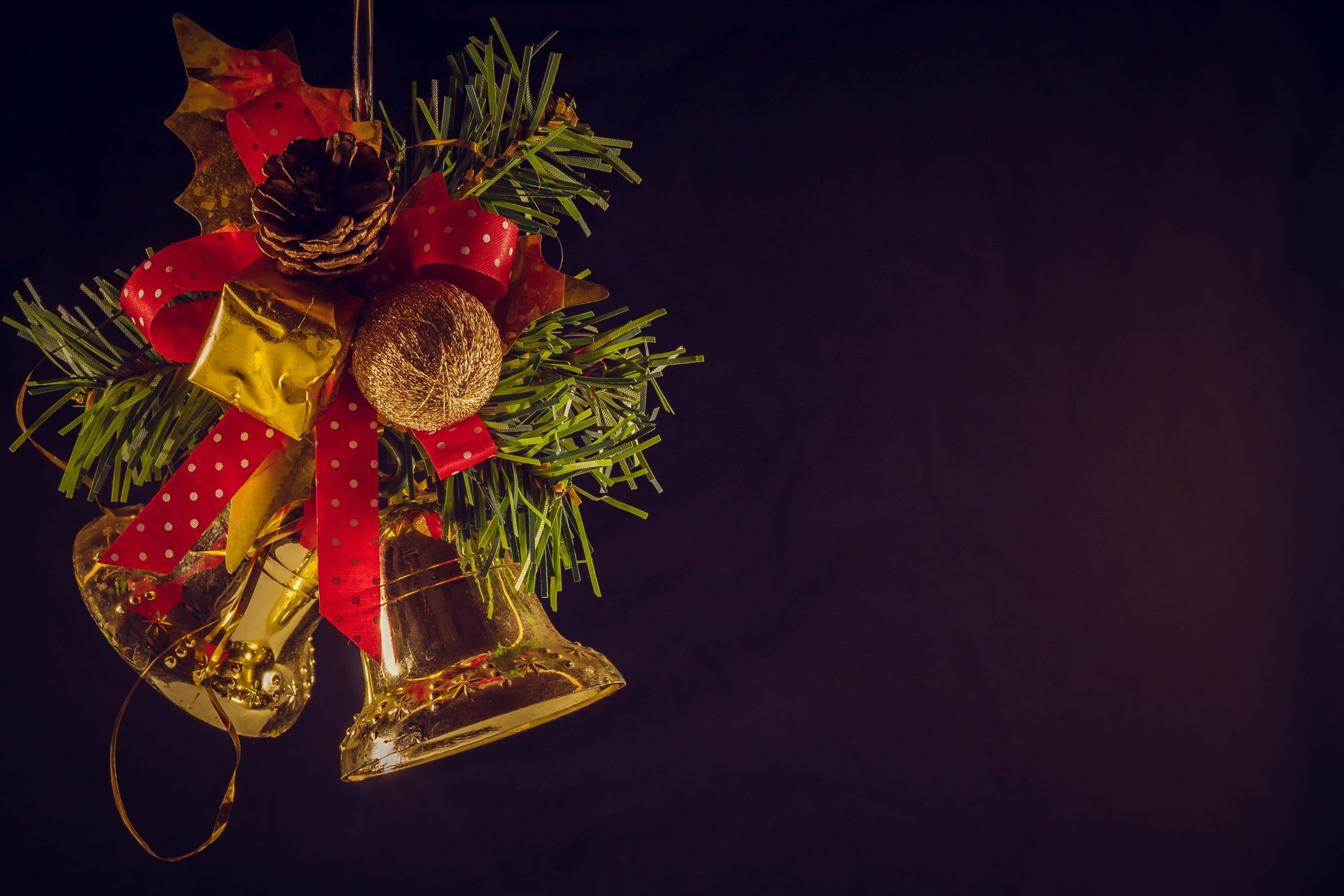 Decorated Christmas bells