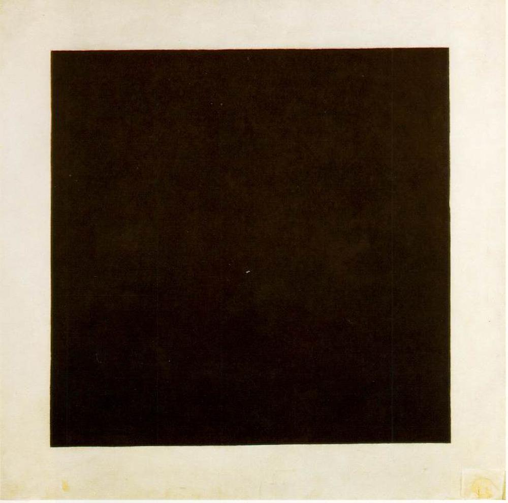 The abstract painting titled, 'The black square' by Kazimir Malevich