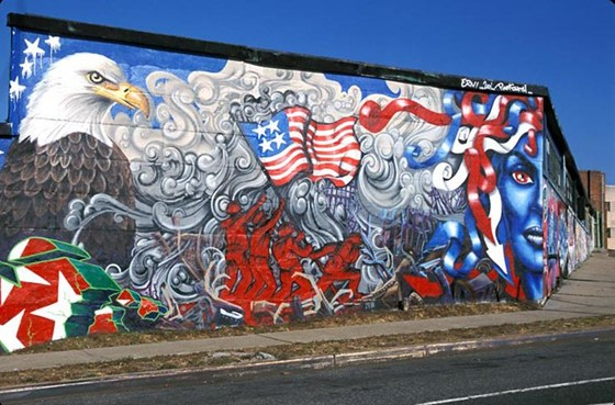 Lady Pink's tribute to 9/11 attacks through street art