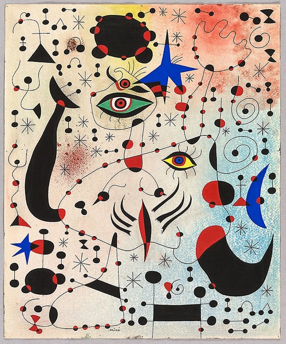 A painting that belongs to the art movement called Cubism.