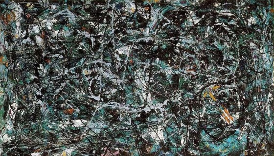 A painting of abstract expressionism by Pollock