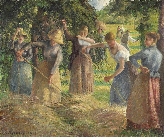 Hay Harvest at Éragny (1901) by Camille Pissarro