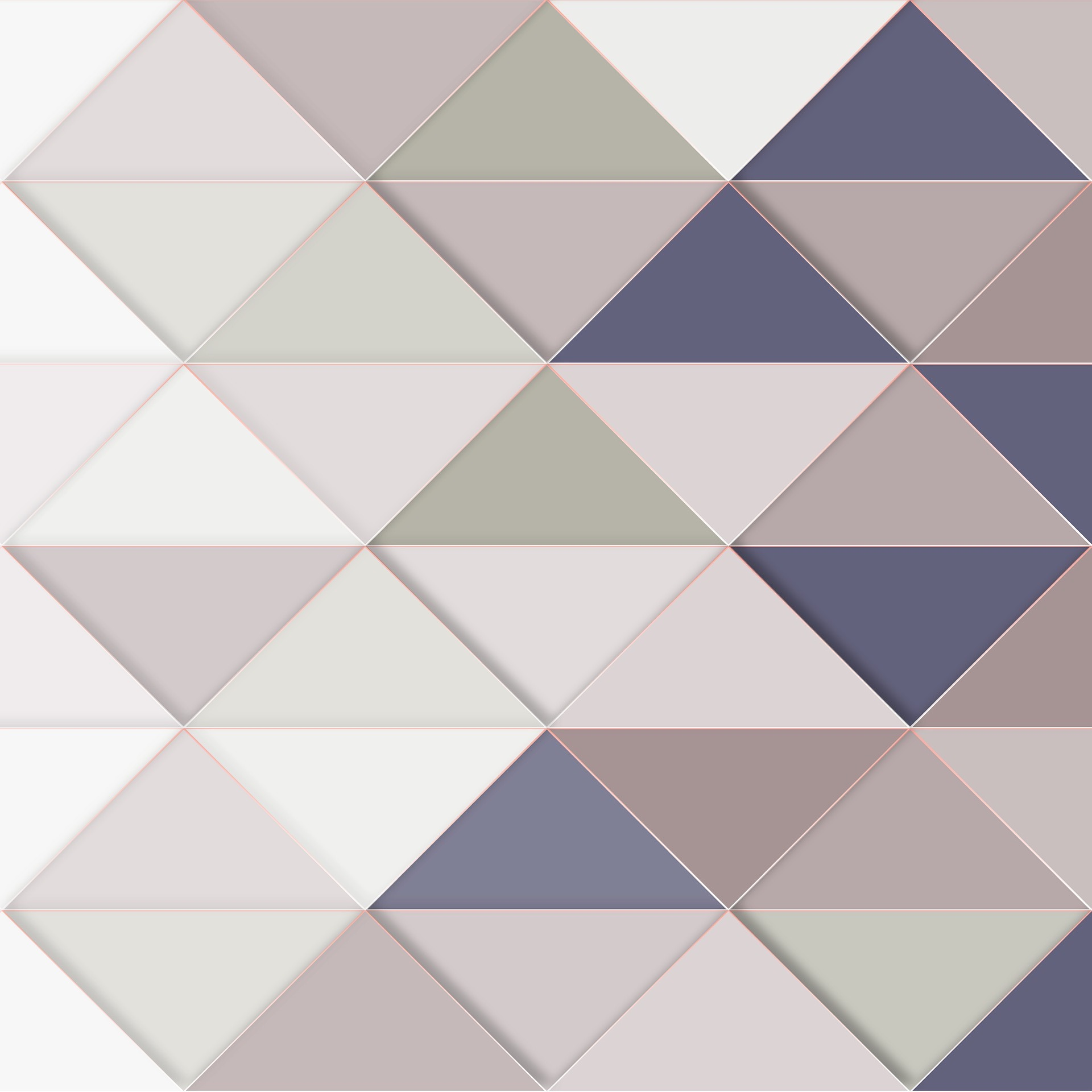 Triangular vibrant wall designs that are sure to lift and make over your walls at home.